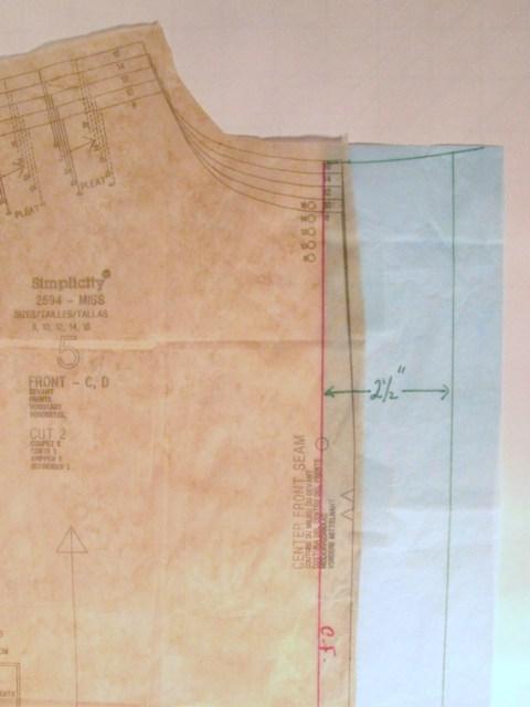 adjusted bodice pattern