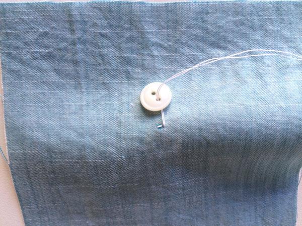 thread through the under button