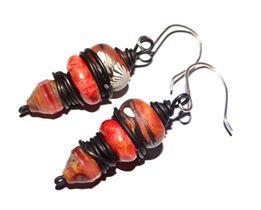 Handmade earrings by Natalie McKenna