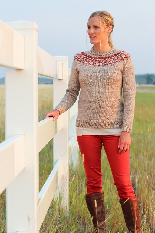 No Bad Weather Pretty Yoke Sweater Pattern