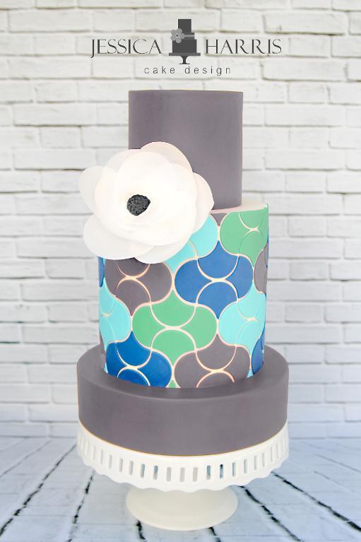 Scales Like Tiles Cake Design