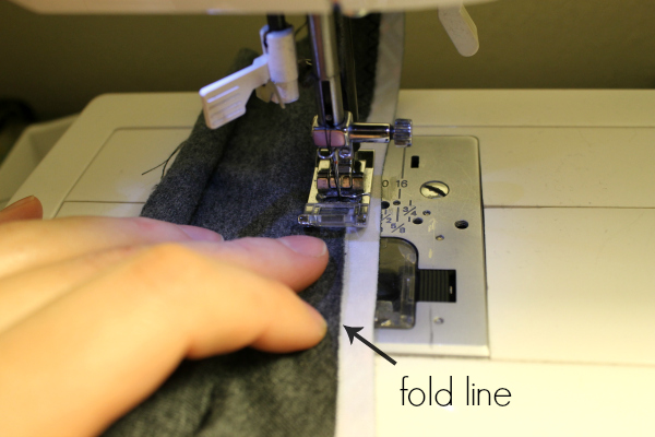 sewing one side of fold over elastic
