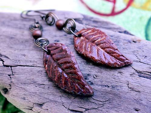 Handmade earrings by Shelley Graham Turner
