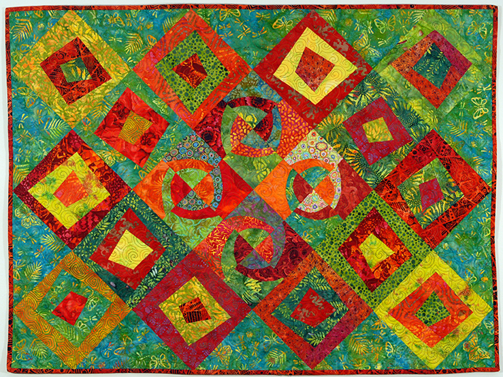Quilt with Alternative Modern Curve Variations
