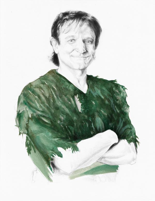 Robin williams portrait illustration