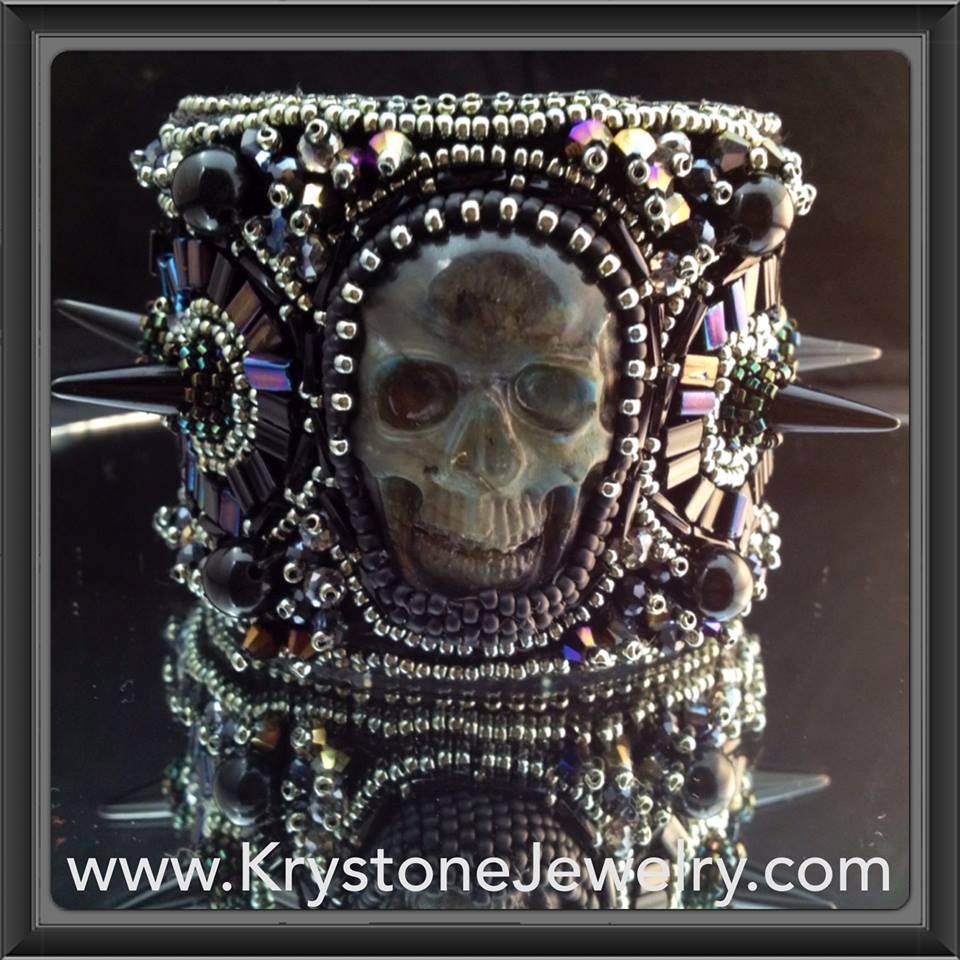 Wendy V. beaded skull bracelet COOL