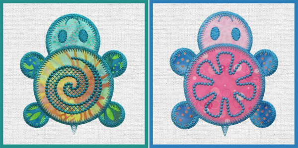 AccuQuilt Turtle Flower Pattern by Marjorie Busby of b-quilts