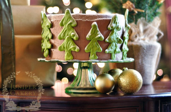 Chocolate peppermint cake by Juniper Cakery