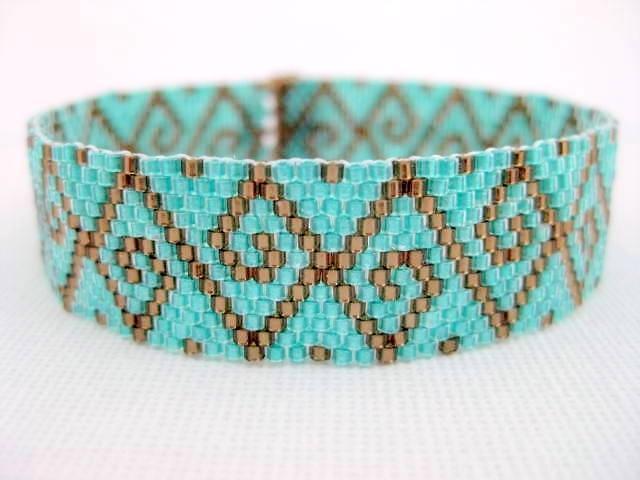 Swirls Peyote Bracelet pattern