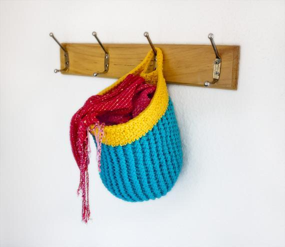 Hanging Crocheted Basket