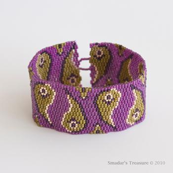 Paisley Peyote Cuff pattern