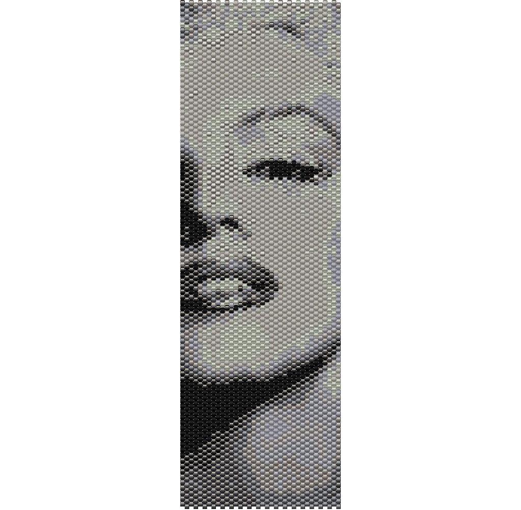 Marilyn Monroe peyote bracelet pattern