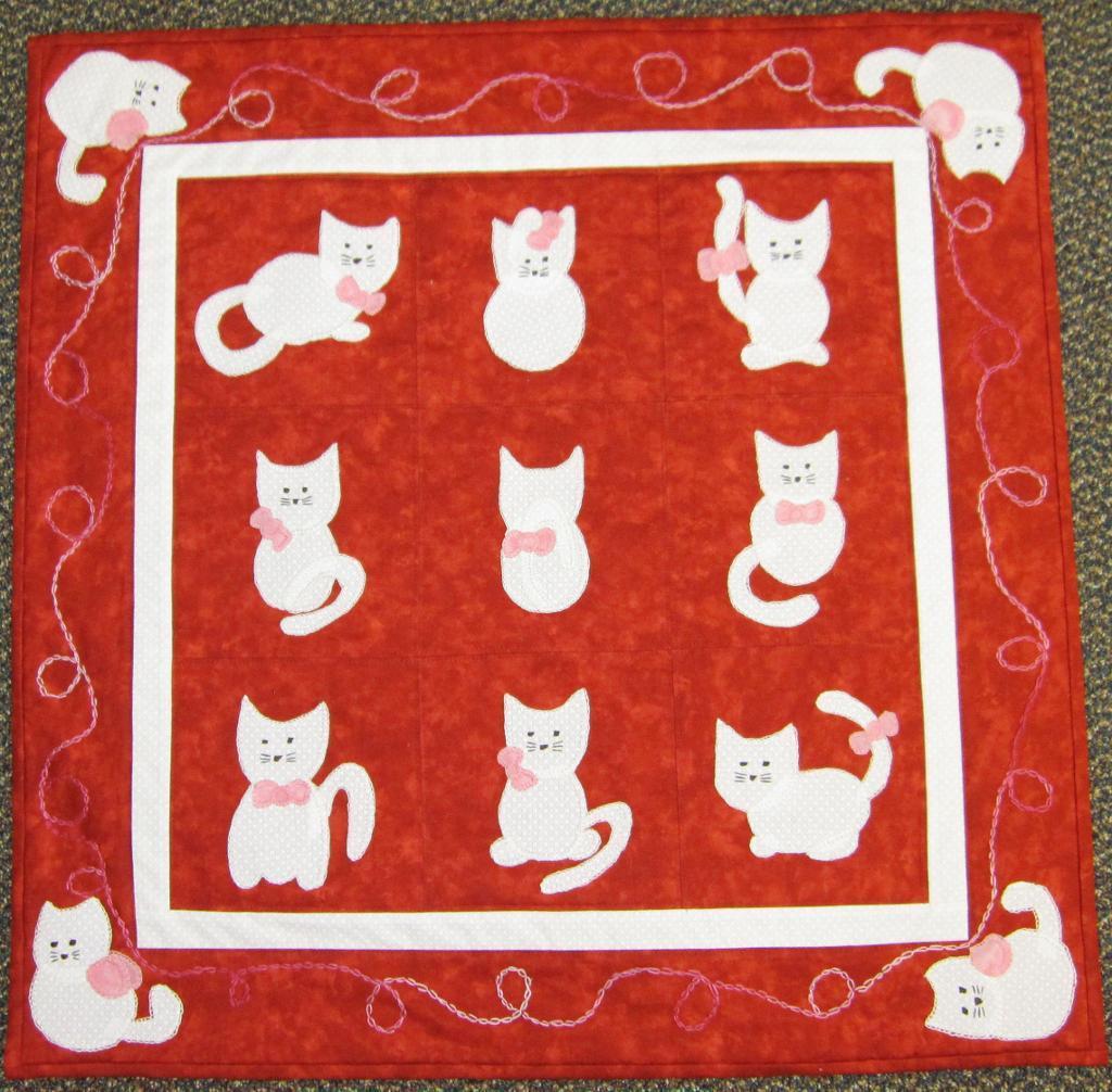 Appliqued Cat Quilt