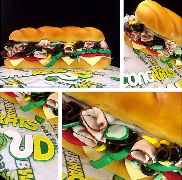 Subway sandwich cake by Craftsy member Buttercreamery