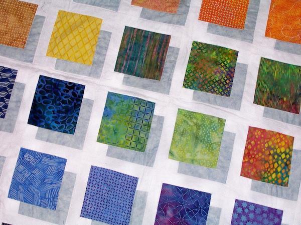 Color Block 3D quilt