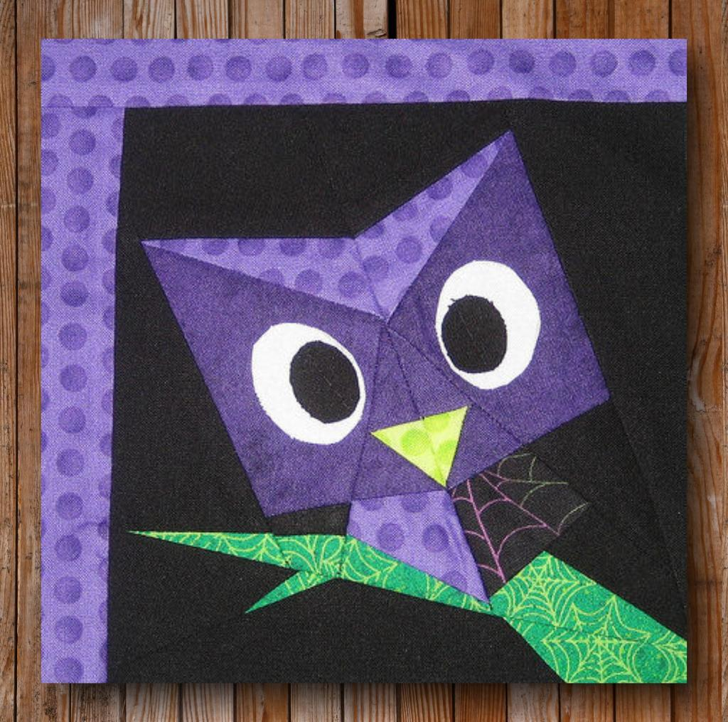Easy Peeping Owl Block Pattern