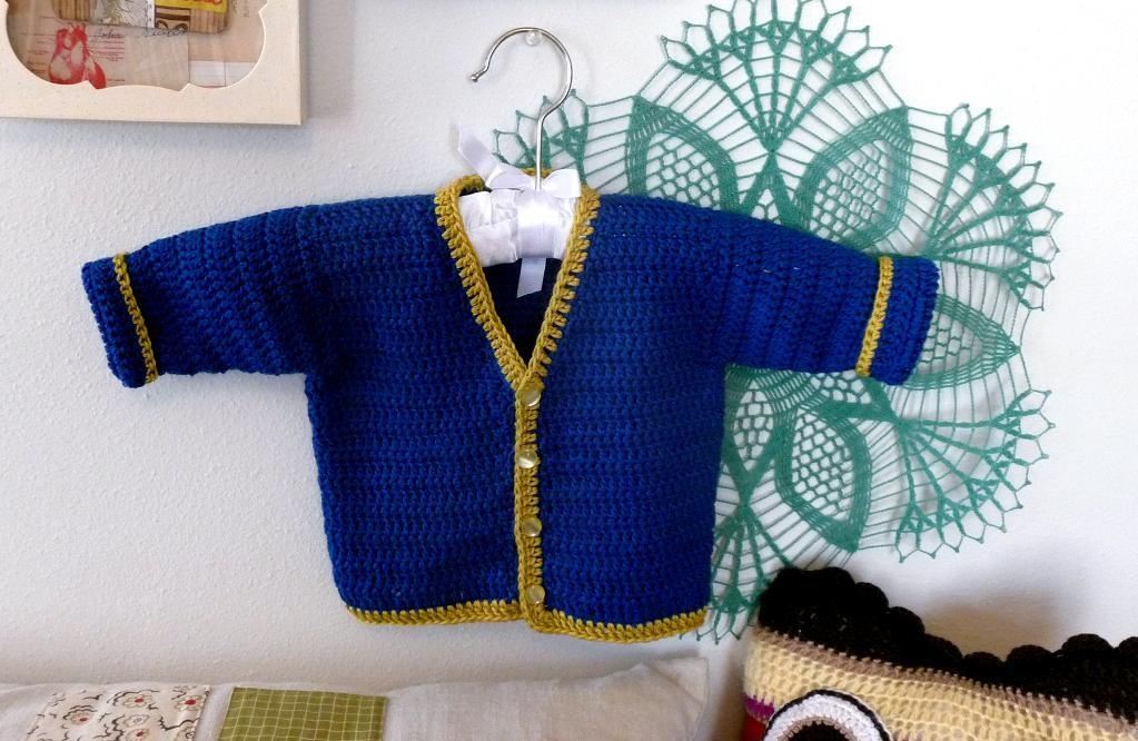 Beyond Rectangles baby cardigan crochet pattern