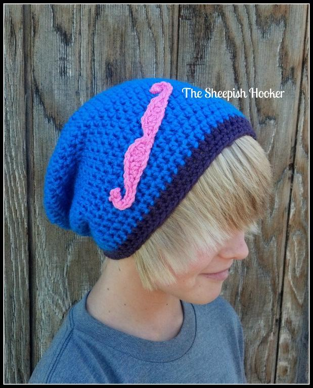 Mustache Applique crochet pattern