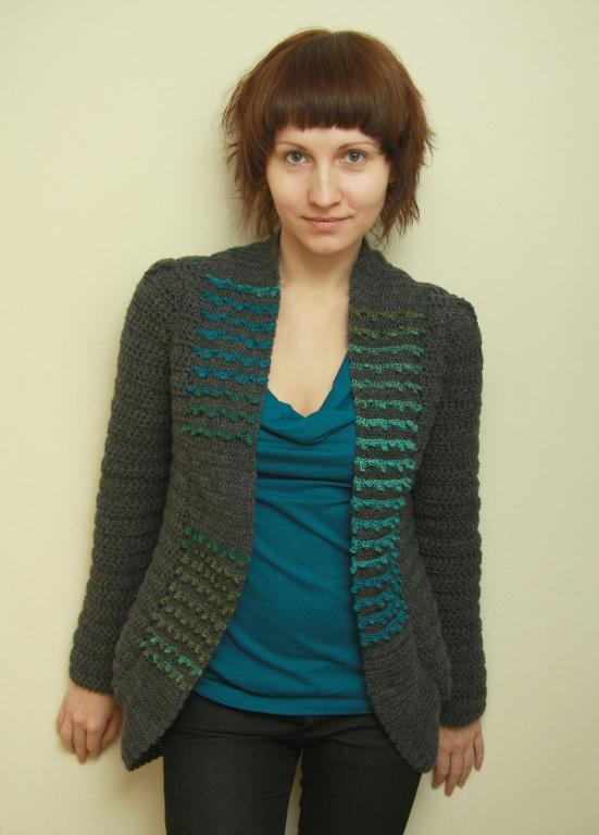 London Cardigan crochet pattern