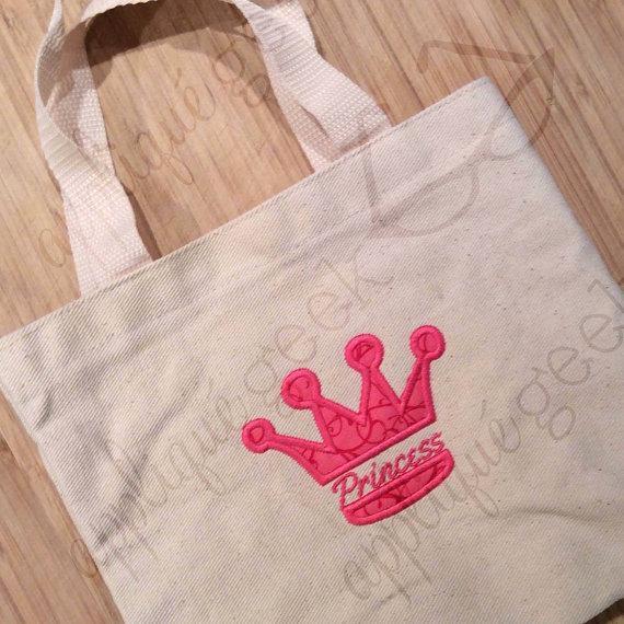 Princess Crown Split Applique Embroidery