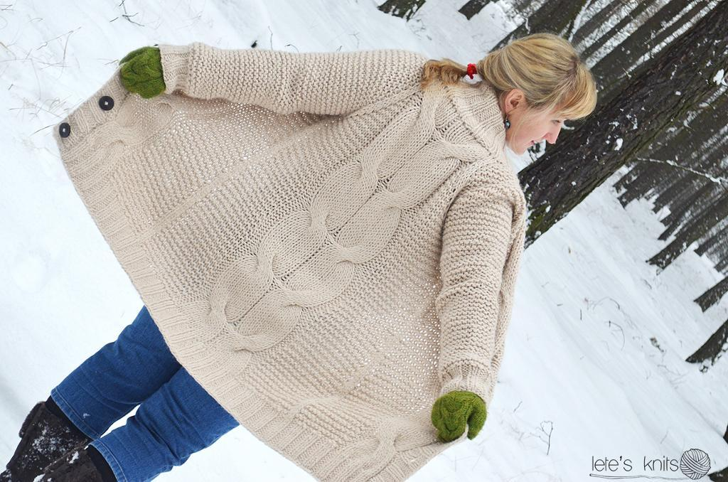The Big Cable Cardi Pattern
