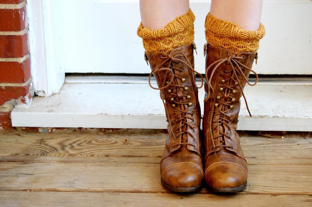 Honeycomb Boot Cuffs knitting pattern