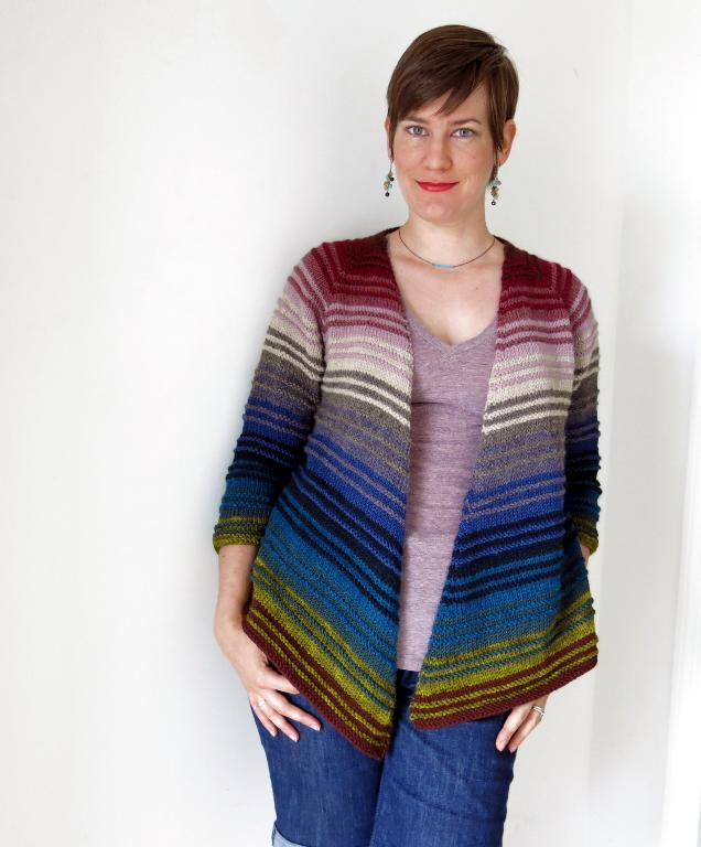 Irisa Striped Cardigan Knitting Pattern