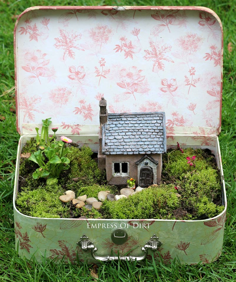 Fairy Garden in a Vintage Suitcase