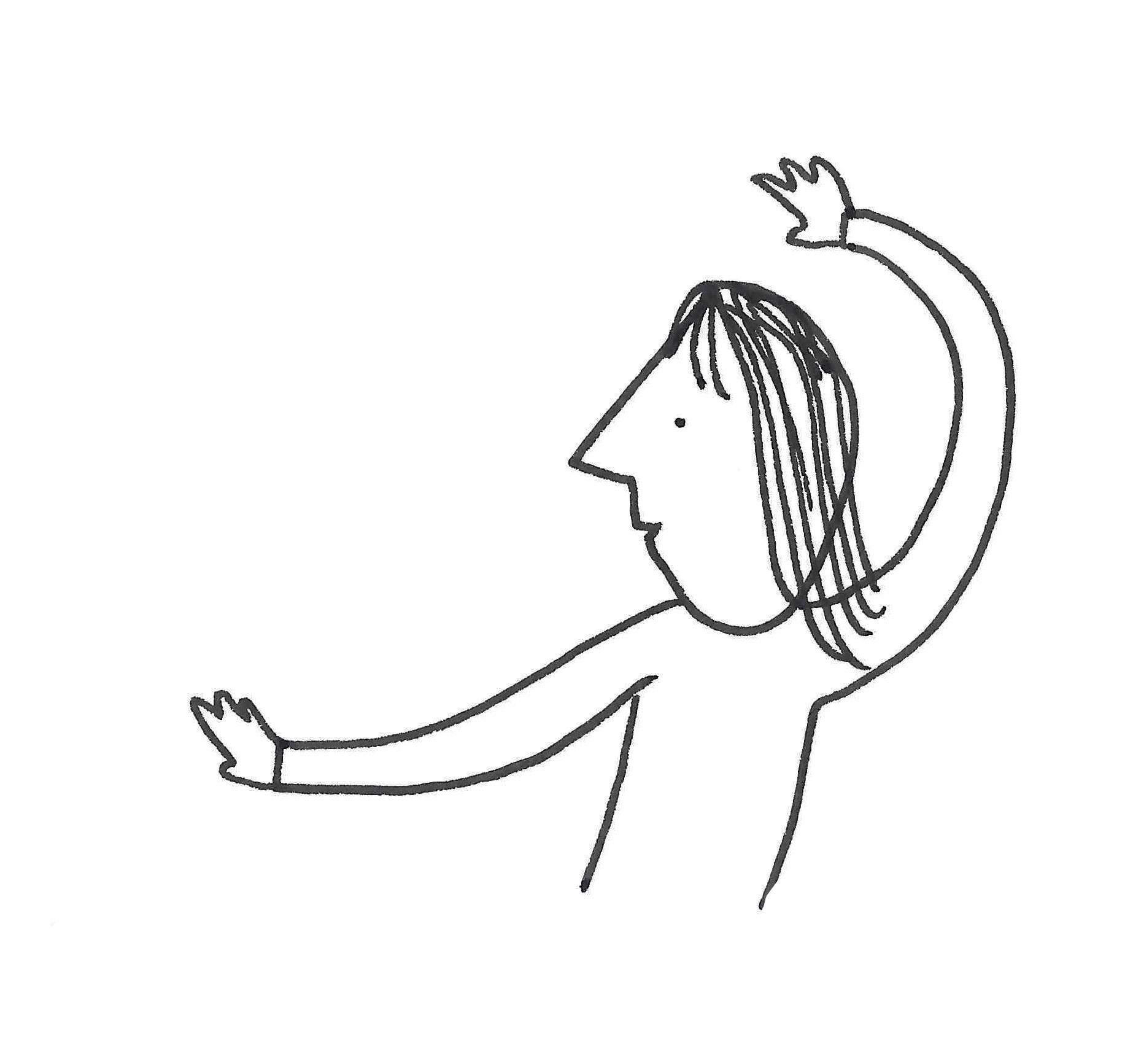 Flourishing hand gestures