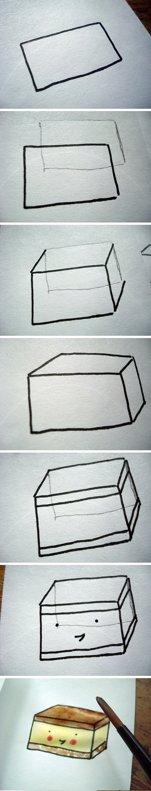 How to draw rectangular pastries