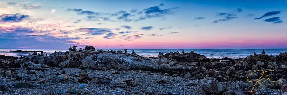 Cairns on the Coast. Odiorne Point, Rye, NH.