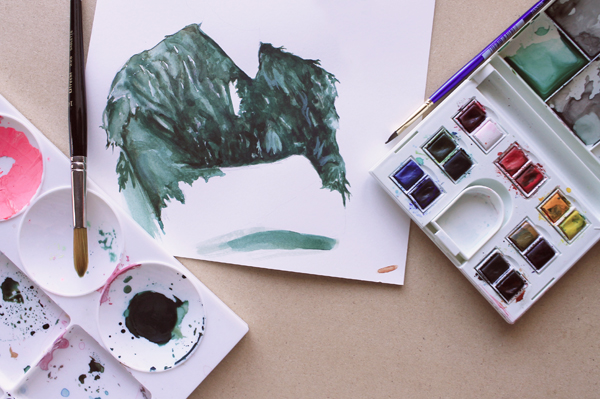 painting the isolated area