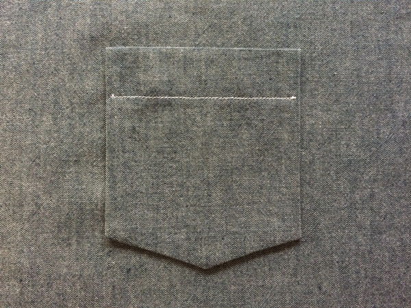 start with sewn pocket