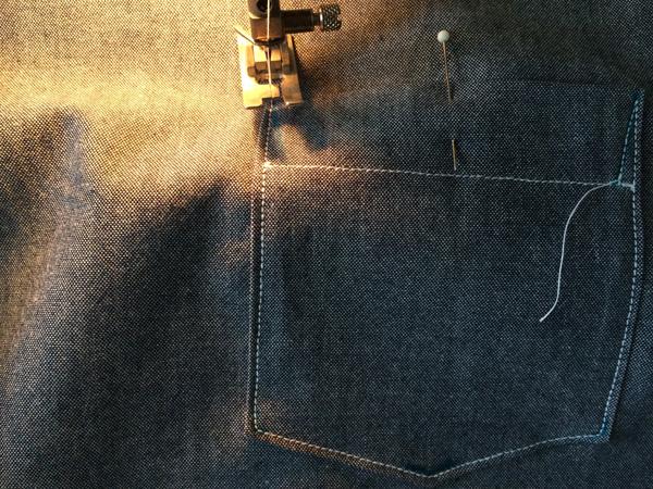 sew down corner
