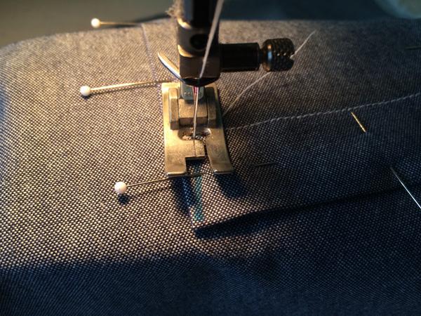 sew up to corner