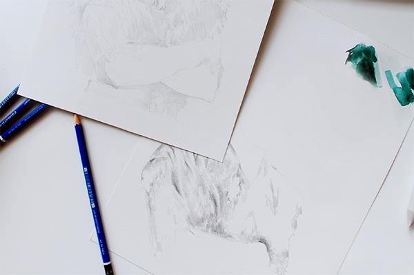 drawing prep work