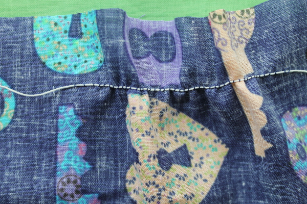 Good shirring tension when sewing