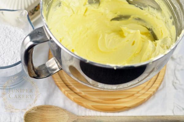 Creamed butter for homemade buttercream