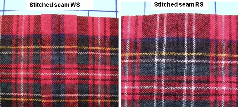 stitched seam