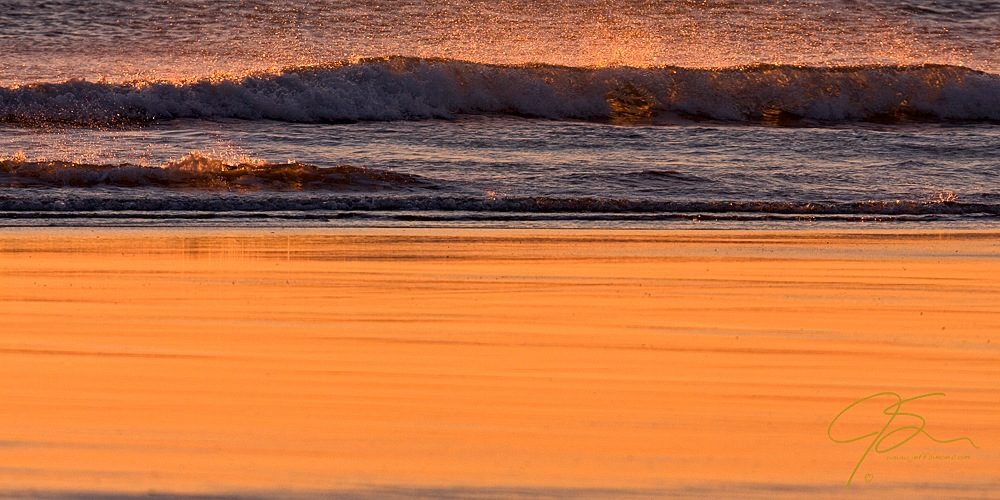 surf, sand, and golden light