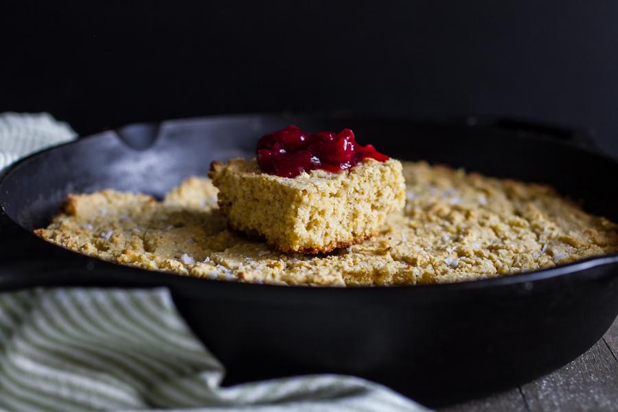 Gluten-Free Cornbread With Cherry Preserves