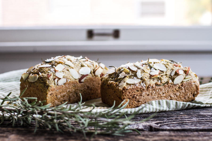 Gluten Free Savory Herb and Sea Salt Quick Bread
