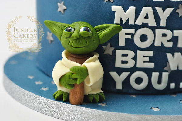 Yoda Star Wars Cake by Juniper Cakery