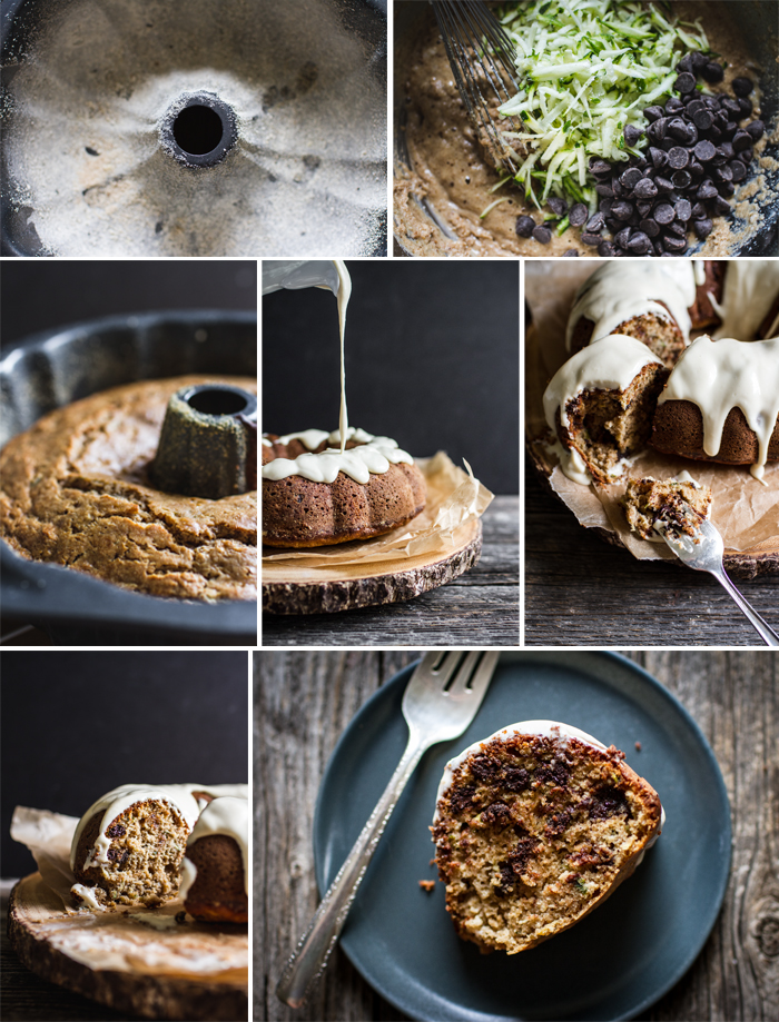 Recipe Photography for Zucchini Cake