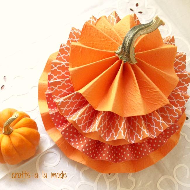 Stacked Rosette Paper Pumpkins