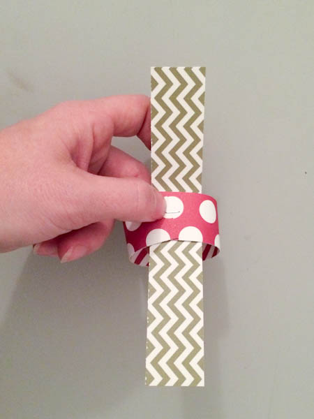 Cut Strips of Card Stock for DIY Holiday Garland