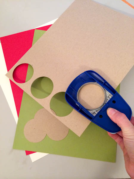 Pieces of Card Stock With Circle Punch Cutter
