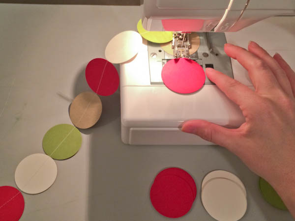 Making DIY Holiday Garland on a Sewing Machine