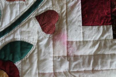 damaged quilt