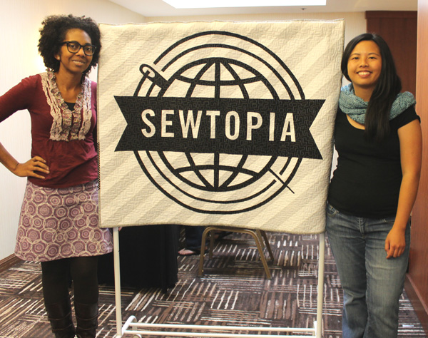Two Quilters at Sewtopia Quilt Retreat